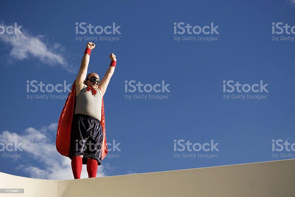 Superhero Flyaway royalty-free stock photo
