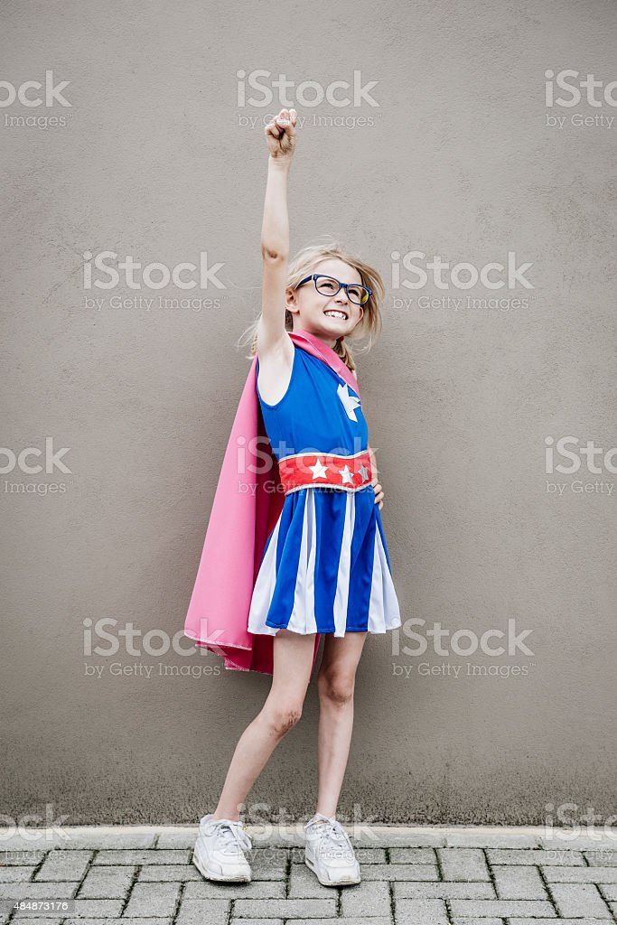Superhero Girl stock photo
