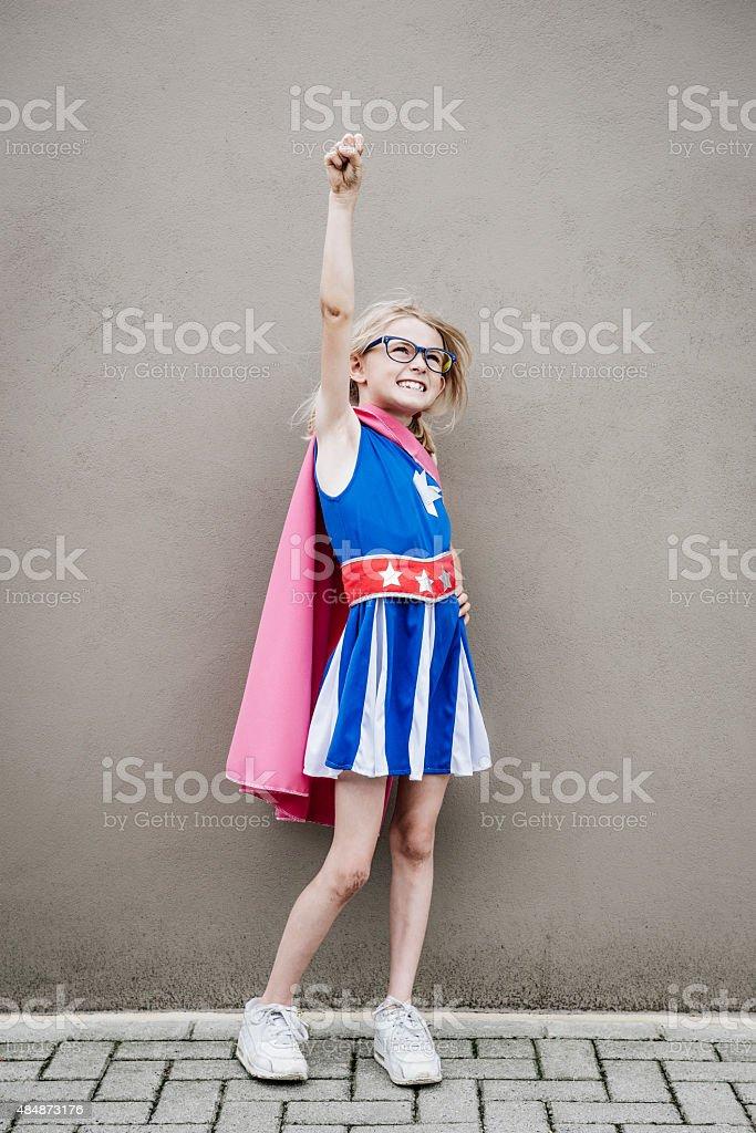 Superhero Girl stock photo