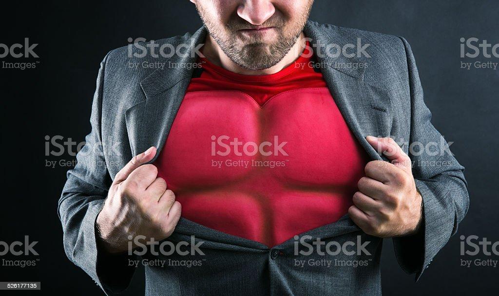 Superhero inside stock photo