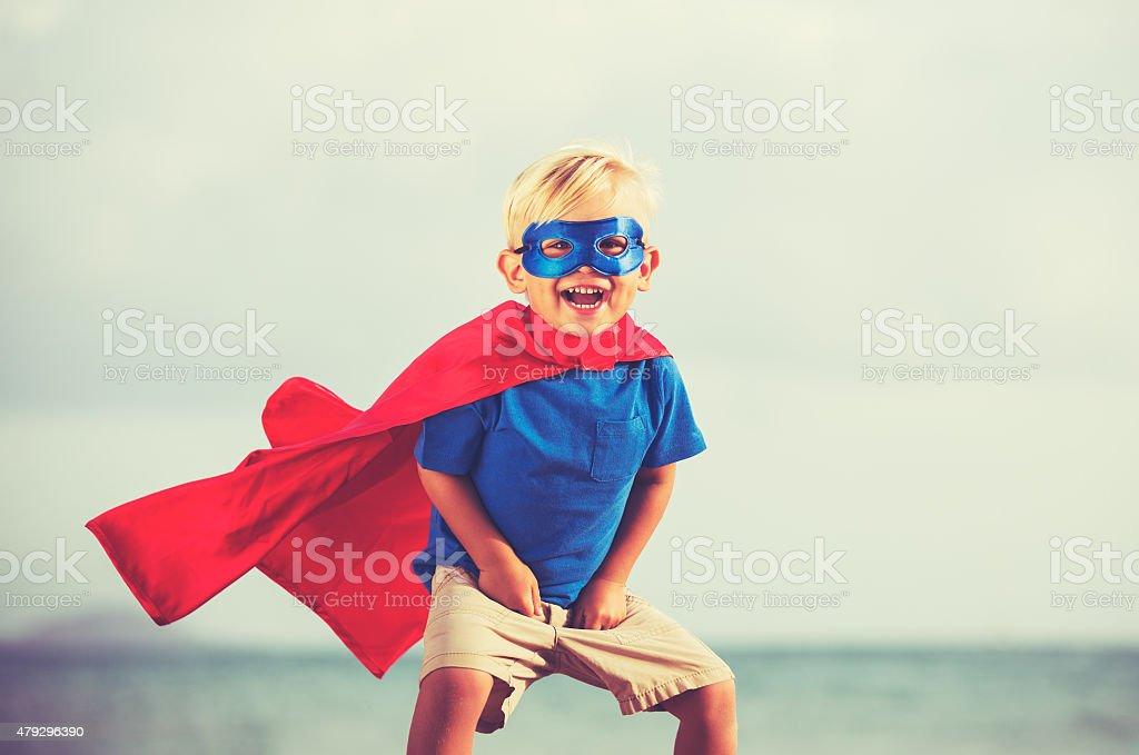 Superhero Kid stock photo