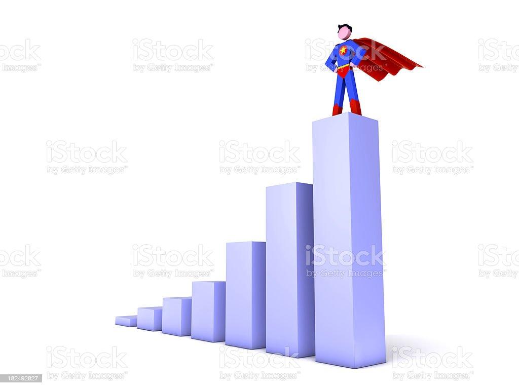 Super-herói em gráfico foto royalty-free