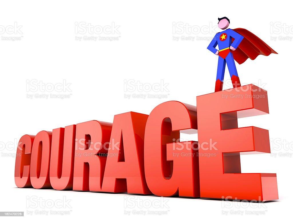 Super-herói em coragem foto royalty-free