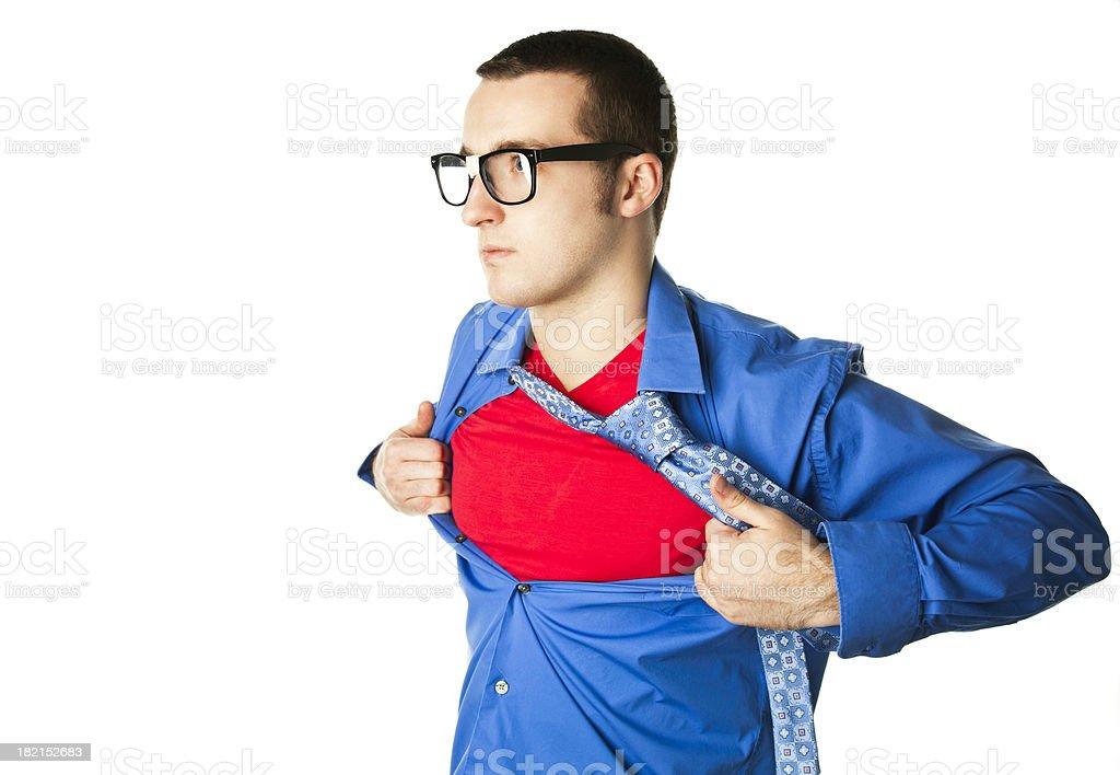 Superhero on White royalty-free stock photo