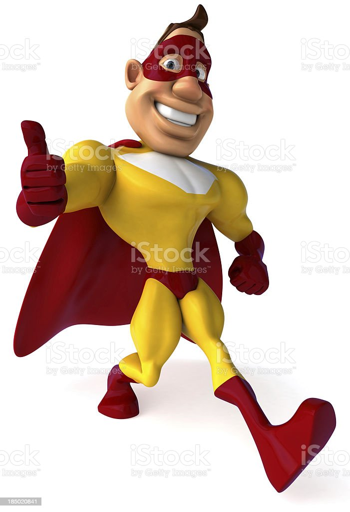 Superhero royalty-free stock photo
