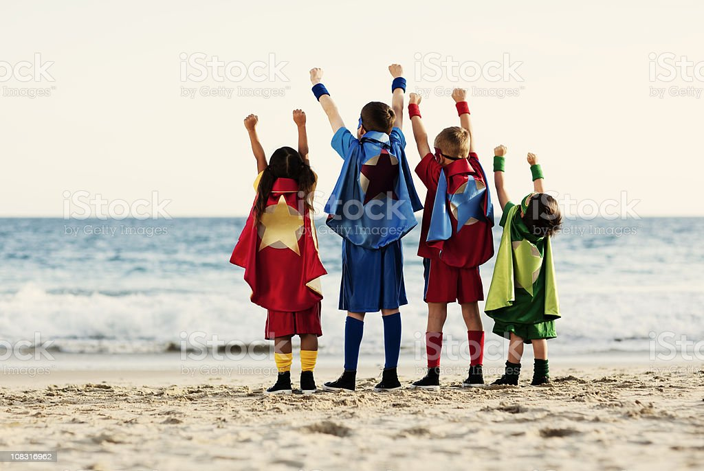 Superhero Power stock photo