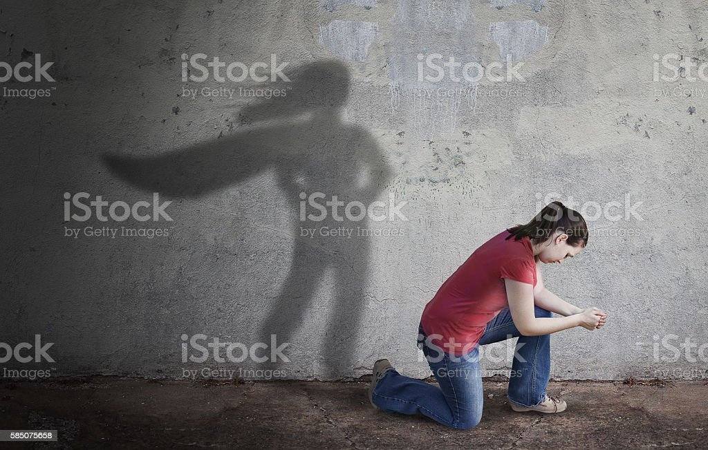 Superhero Shadow stock photo