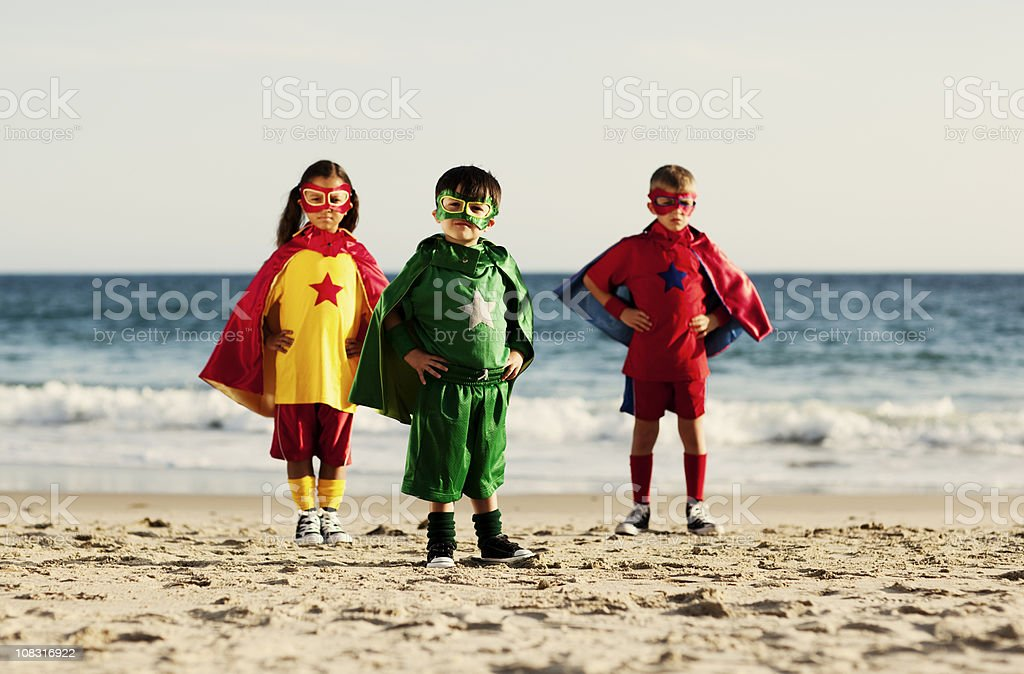 Superhero Trio stock photo