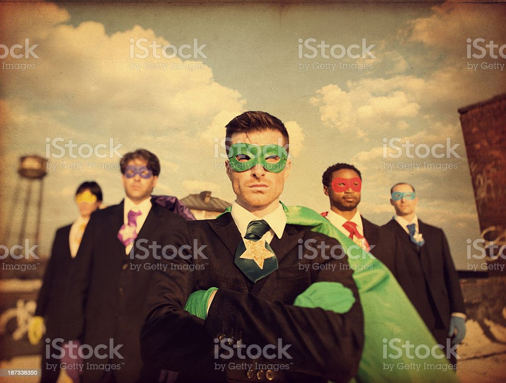 Superheroes Businessmen stock photo