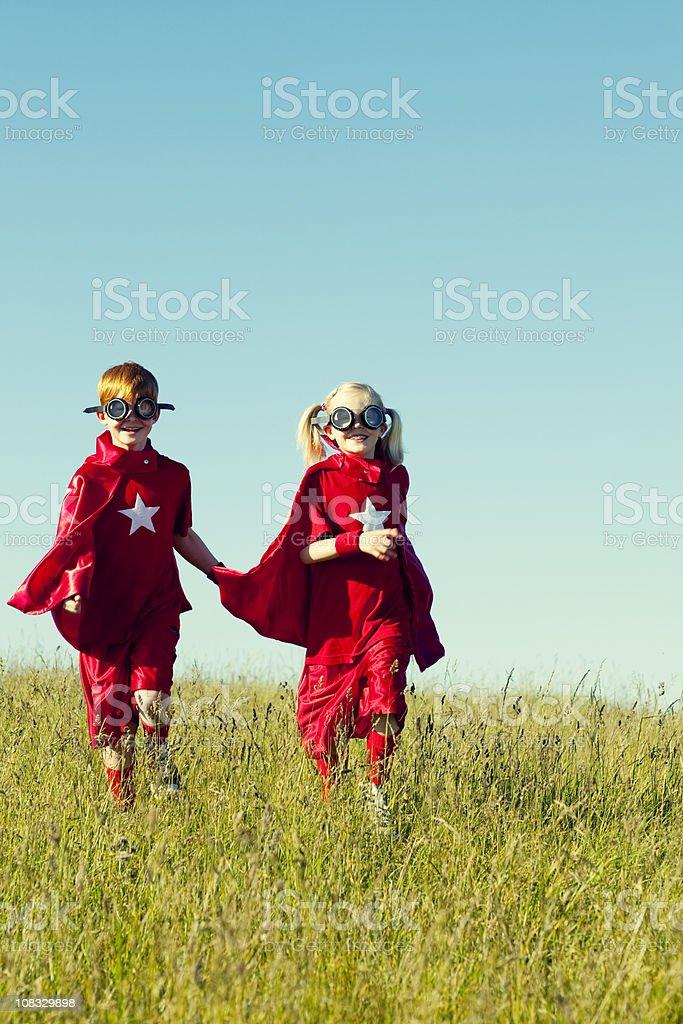 Superheroes! royalty-free stock photo