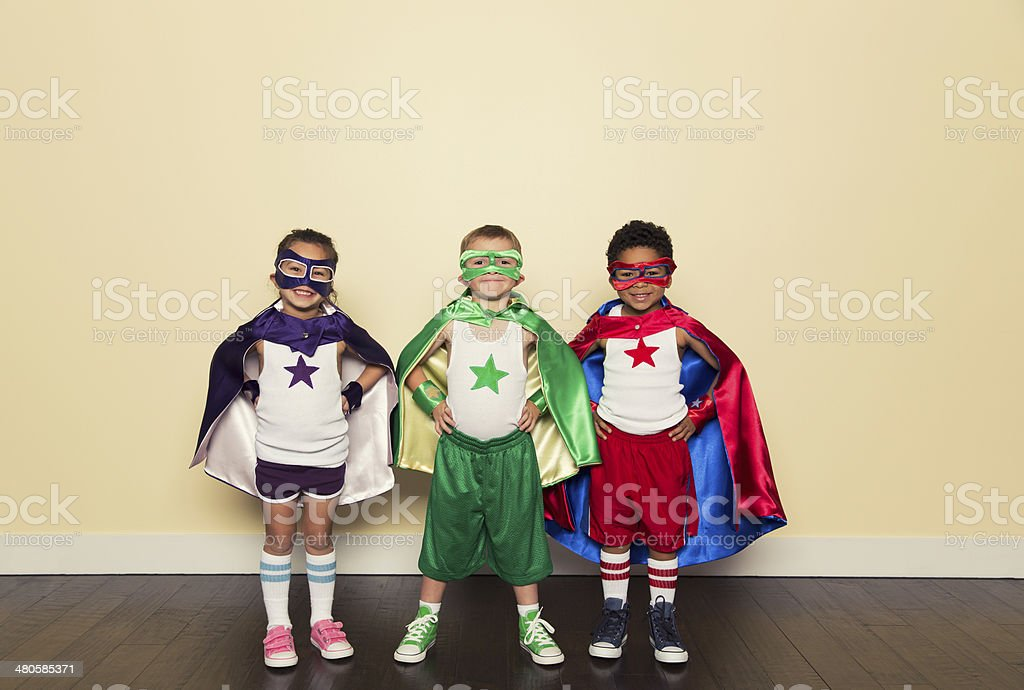 Superheroes stock photo