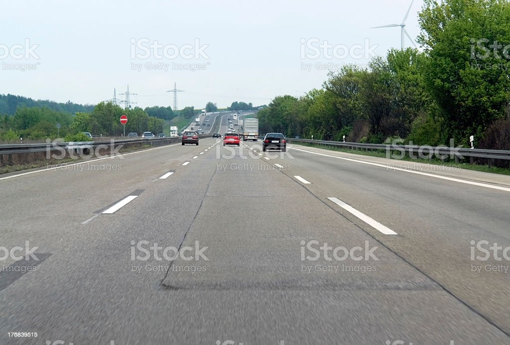 superhighway scenery in germany stock photo