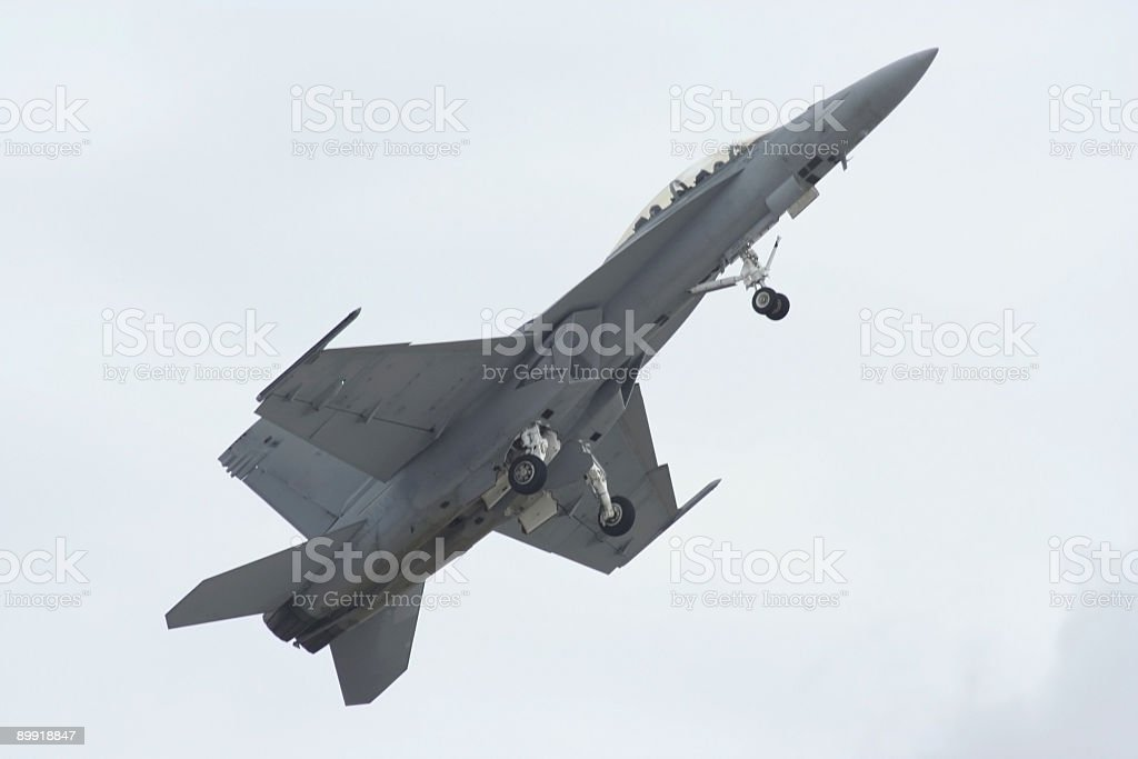 FA 18 superhornet - soft from motion royalty-free stock photo