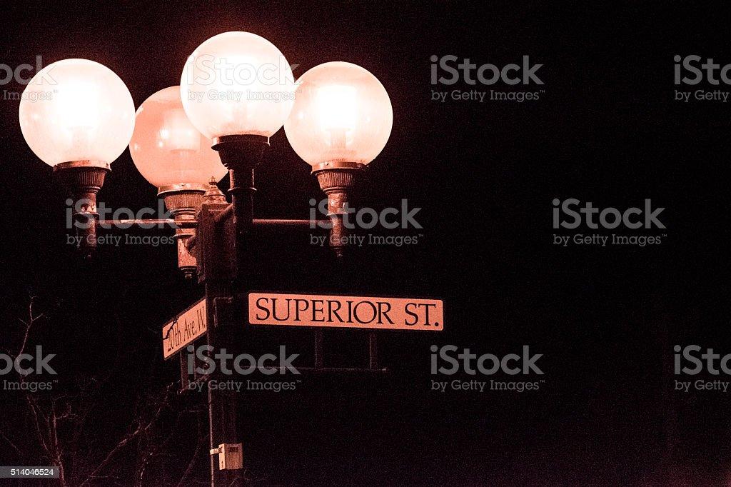Superior Street Sign royalty-free stock photo