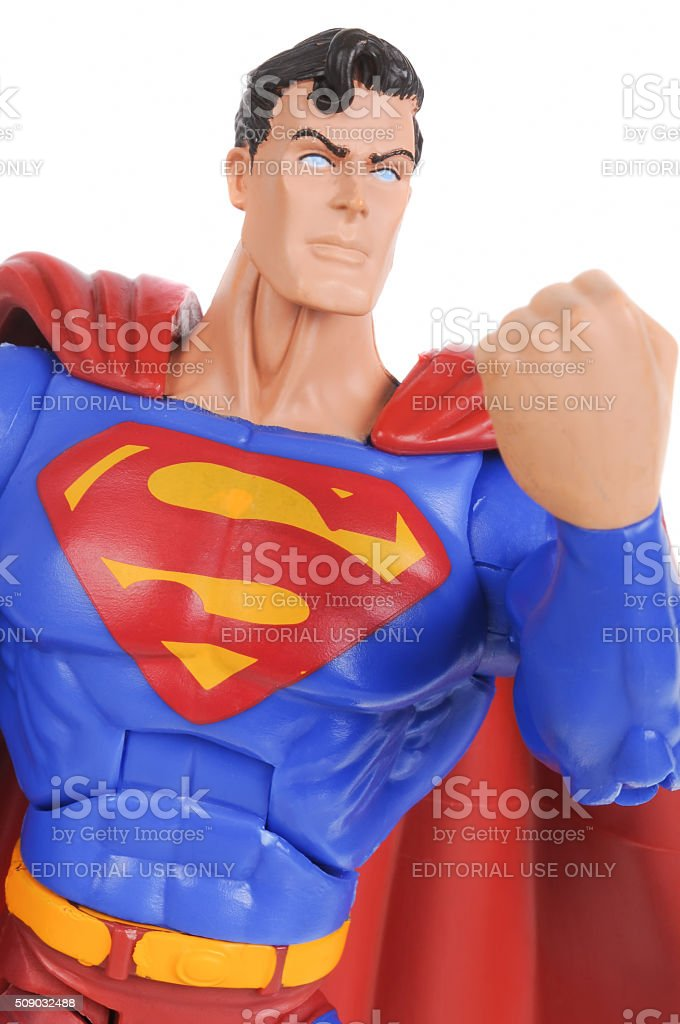Superman Action Figure stock photo