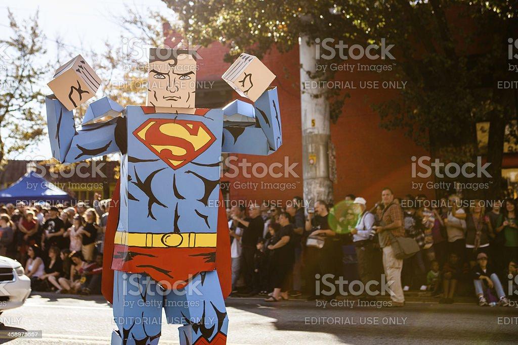 Superman Box Hero stock photo