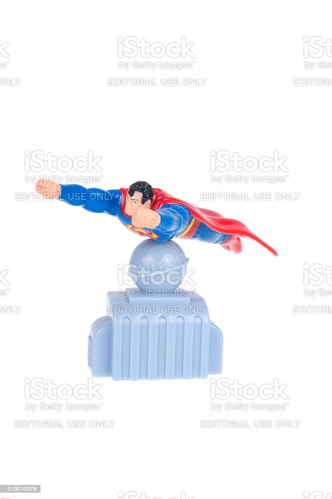 Superman Hungry Jacks Childrens Toy stock photo