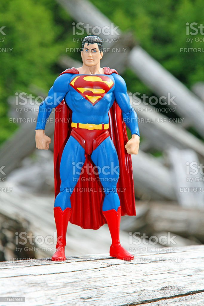 Superman in the Woods royalty-free stock photo