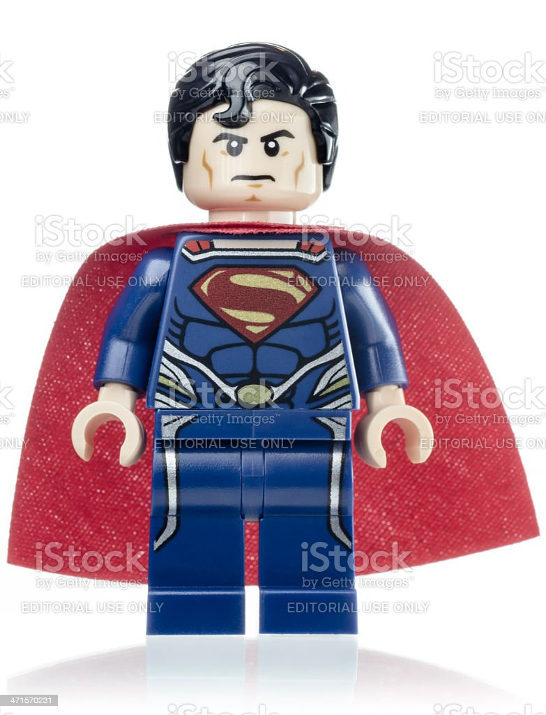 Superman Lego Mini Figure royalty-free stock photo