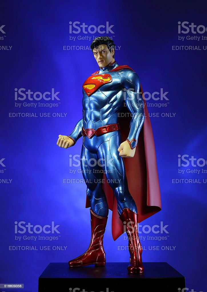 Superman, the man of steel. stock photo