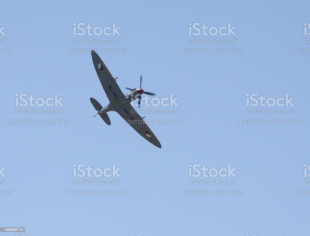 Supermarine Spitfire Fighter In Flight royalty-free stock photo