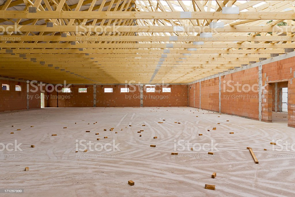 supermarket building site stock photo
