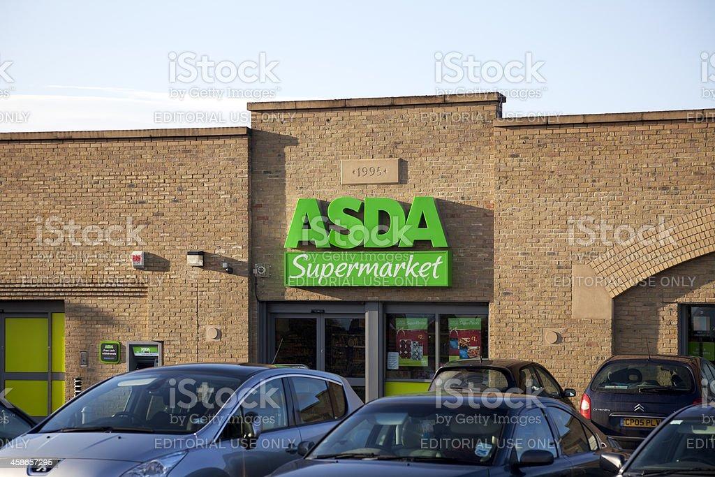ASDA Supermarket, entrance, sign and logo stock photo