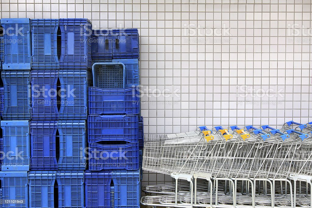 Supermarket equipment royalty-free stock photo