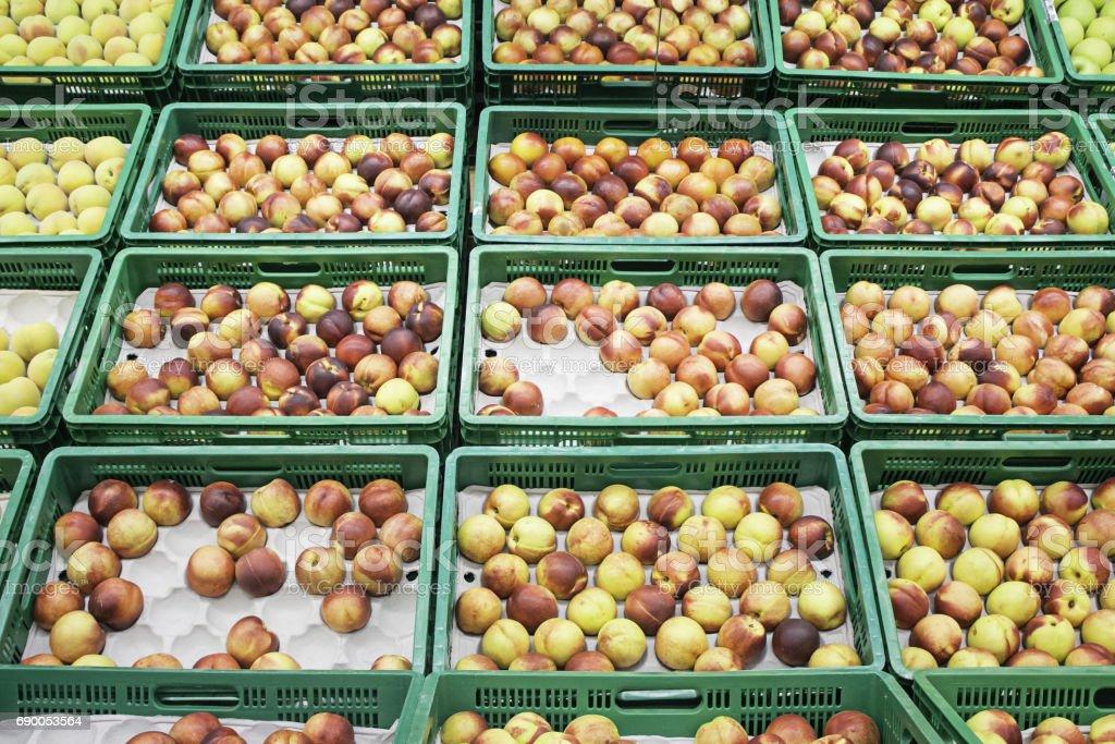 Supermarket fruit stock photo