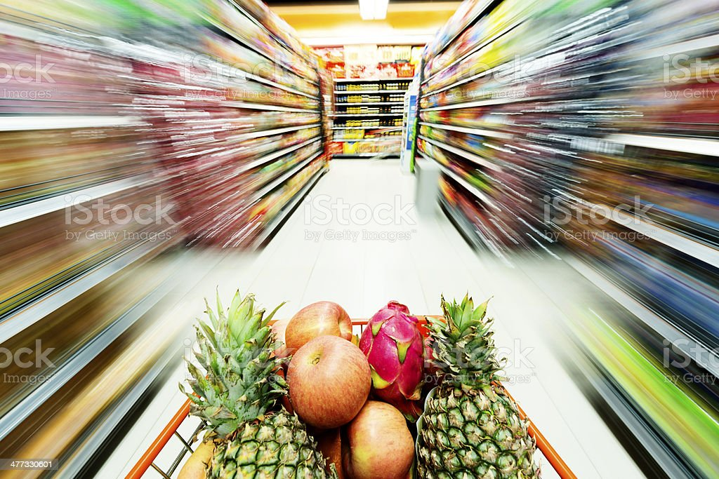 Supermarket interior, royalty-free stock photo