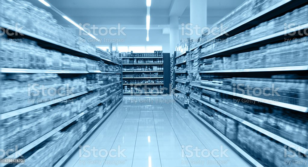 Supermarket stock photo