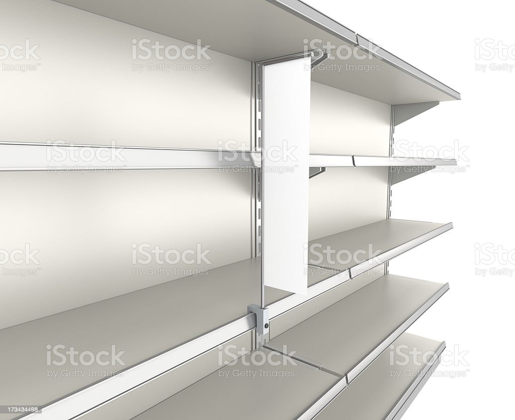 supermarket shelves stock photo