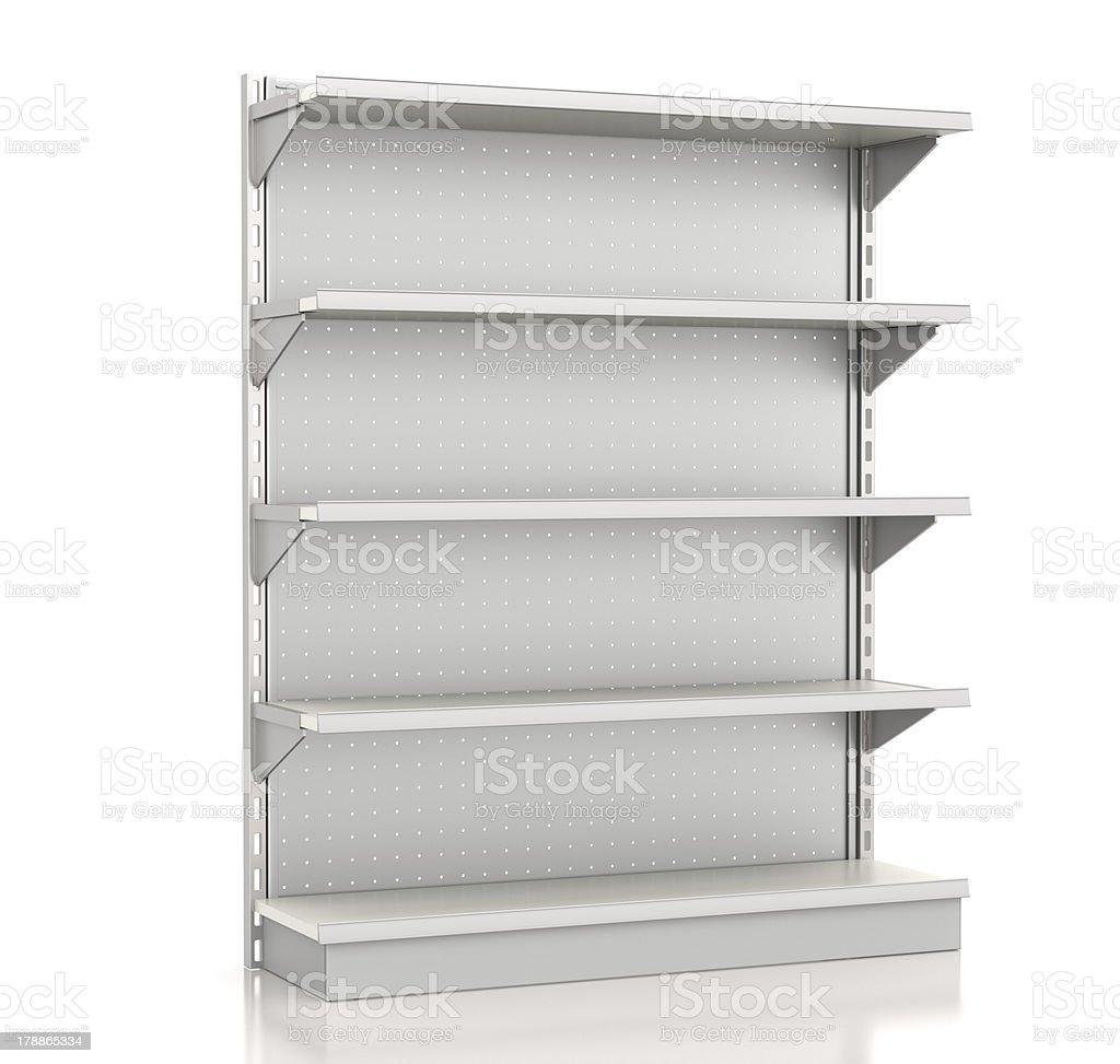 supermarket shelves stock photo
