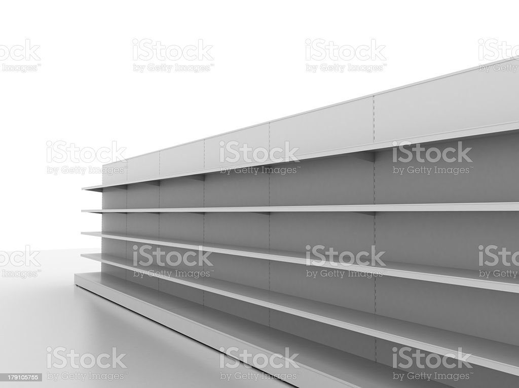 supermarket shelves royalty-free stock photo