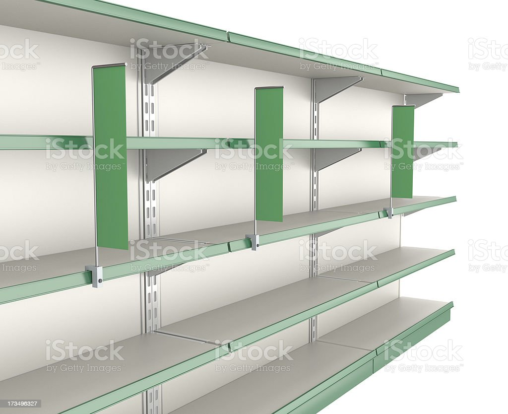 supermarket shelves with flags royalty-free stock photo