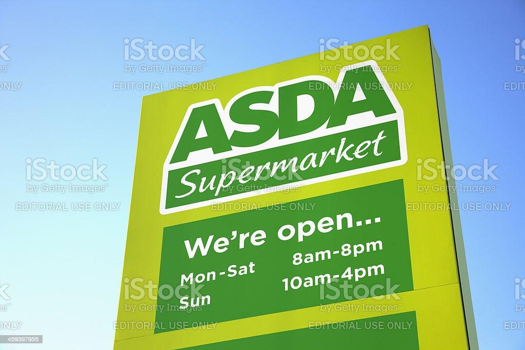 ASDA Supermarket sign and logo stock photo