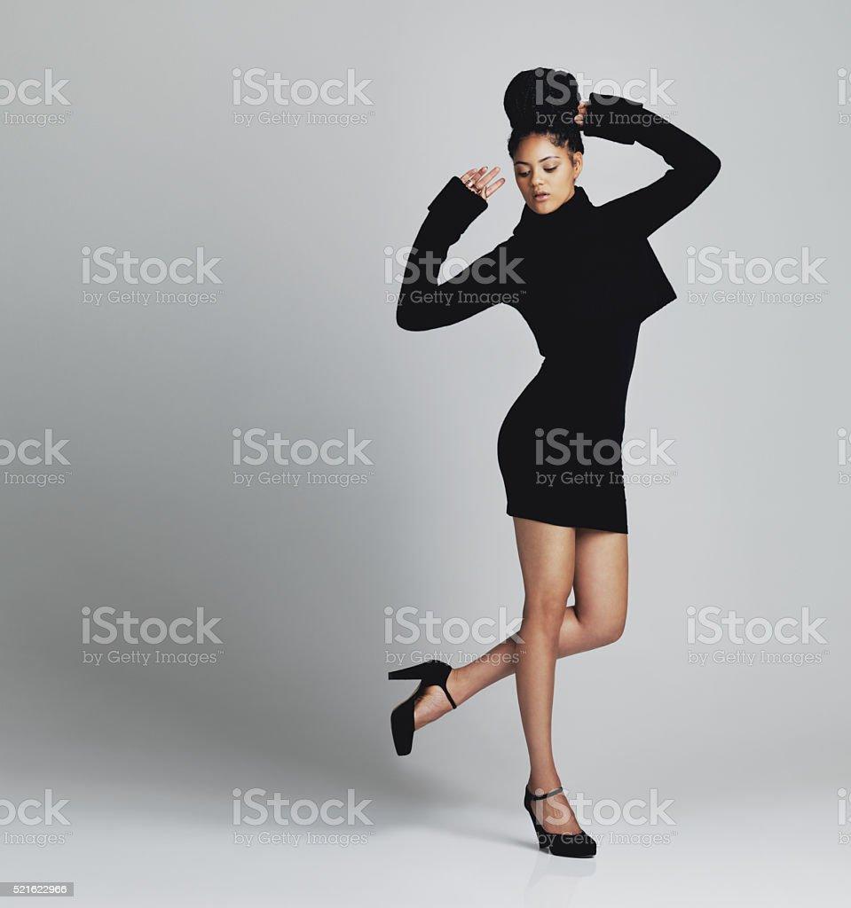 Supermodel kinda style stock photo
