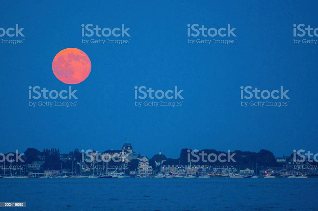 Supermoon July 2014 stock photo