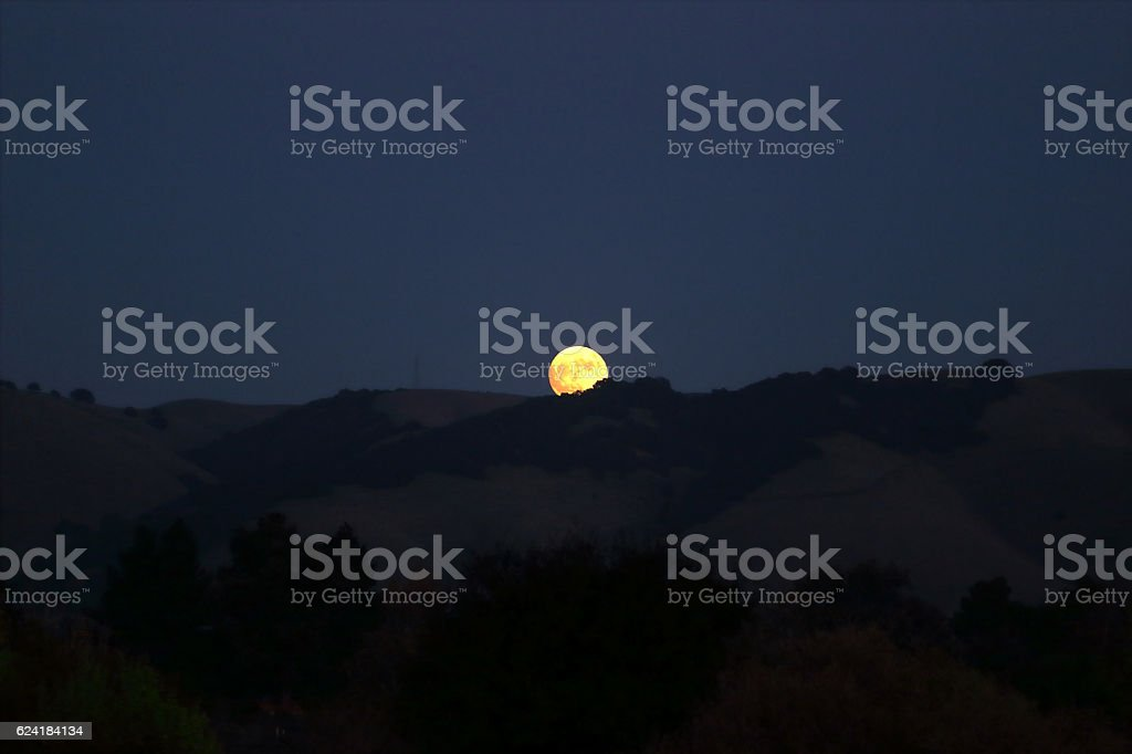 Supermoon stock photo
