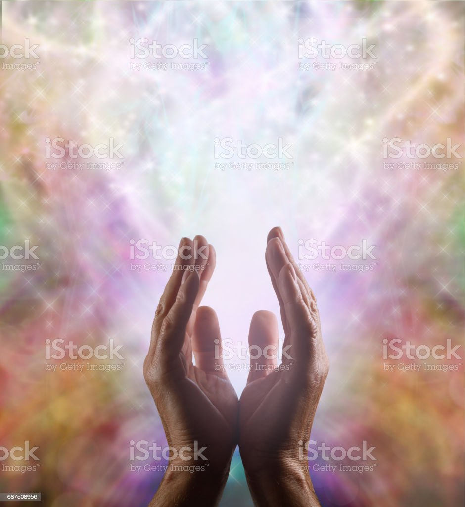 Supernatural Healing Energy stock photo