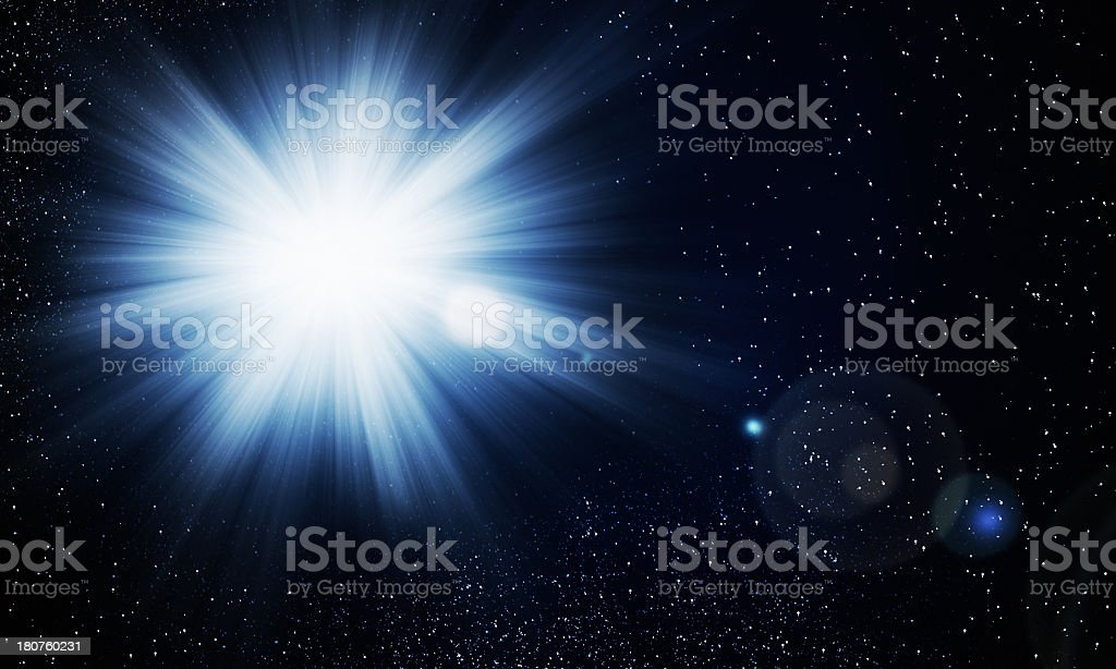 Supernova Burst royalty-free stock photo