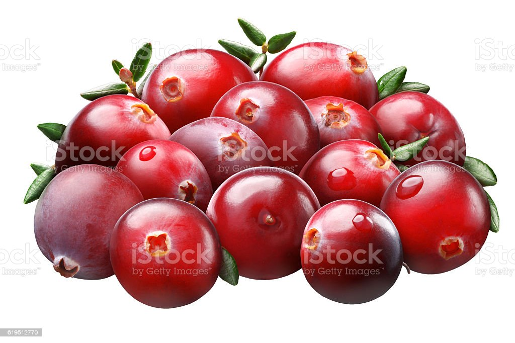 Superpositioned pile of cranberries, paths stock photo