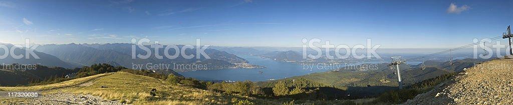 Supersize alpine panorama. royalty-free stock photo