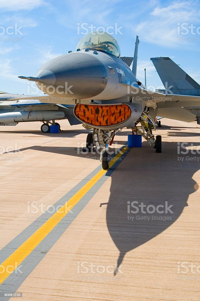Supersonic fighter jet stock photo