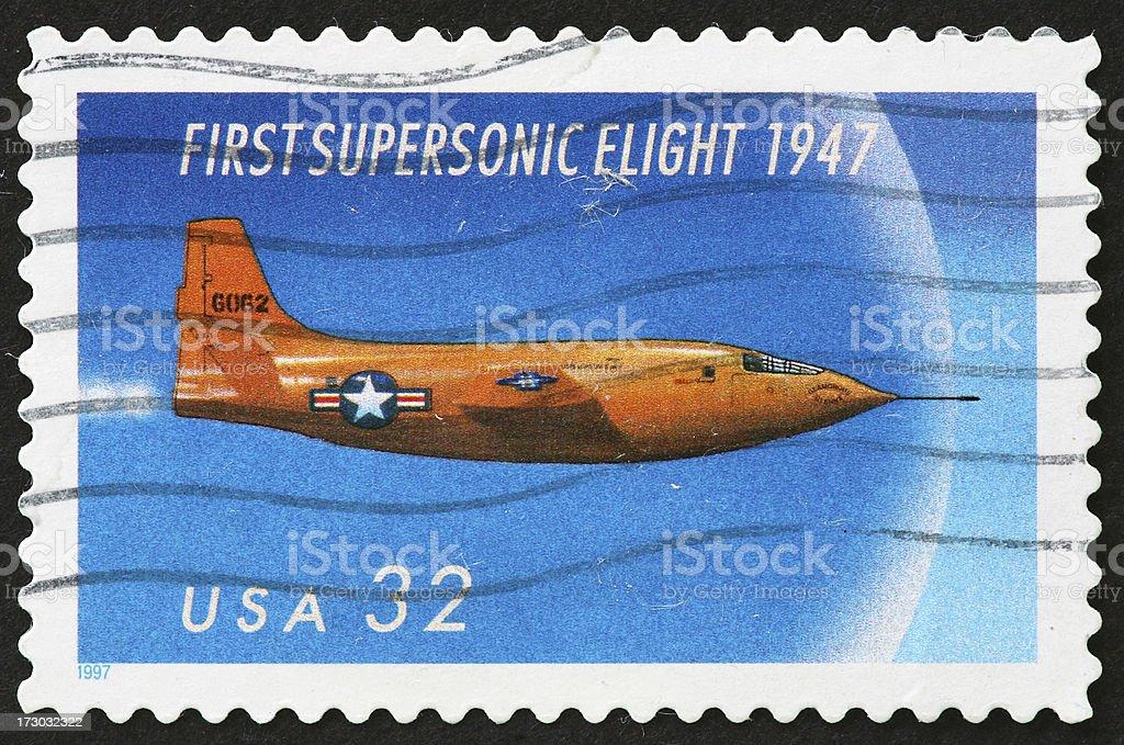 supersonic flight stock photo