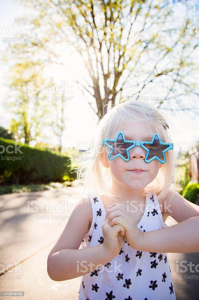 Superstar girl stock photo