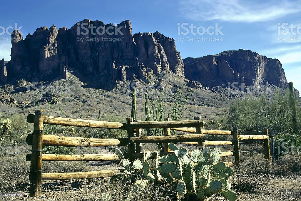 Superstition Fence royalty-free stock photo