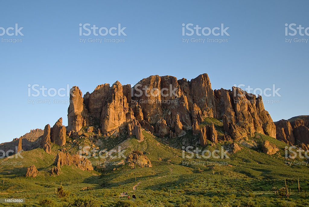 Superstition Mountain stock photo