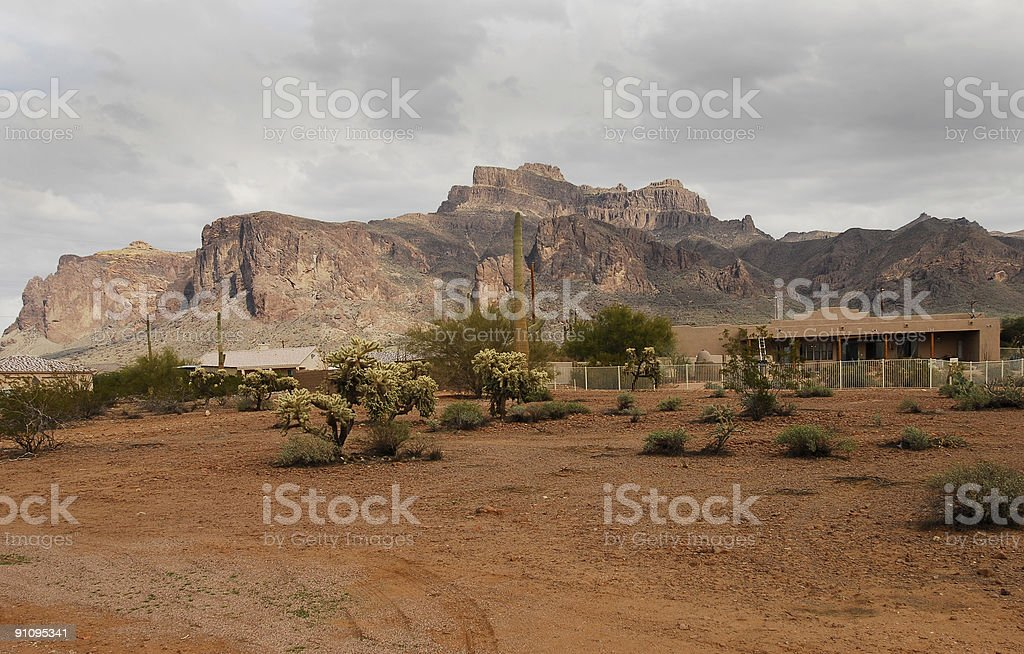 Superstition Mountain royalty-free stock photo