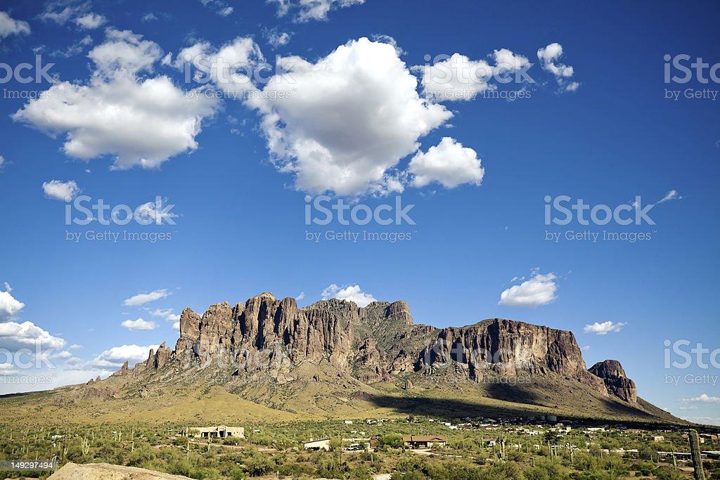 Superstition Mountains Arizona stock photo